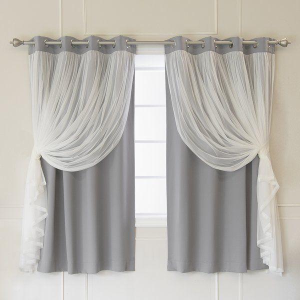 Brockham Room Darkening Thermal Grommet Curtain Panels In 2019