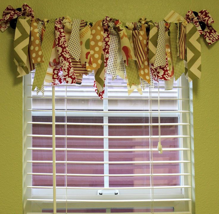 Achieving Creative Order: Fabric Scrap Valance