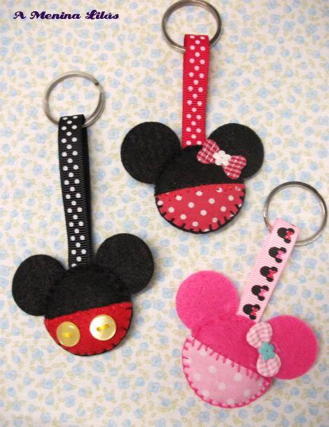 Blog D`Arte: Porta-chaves Minnie e Mickey em feltro - 2.00 cada arte