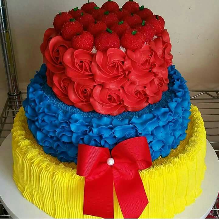 Cake branca de neve  /  party snow white