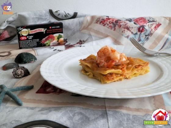 Lasagne con salmone e gamberi  #ricette #food #recipes