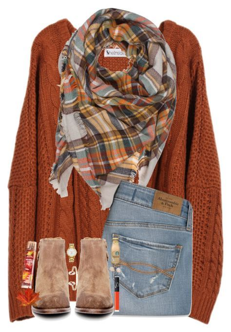 """""""Fall ready❤️"""" by hgw8503 ❤ liked on Polyvore featuring Abercrombie & Fitch, H by Hudson, NARS Cosmetics, Kendra Scott and Kate Spade"""
