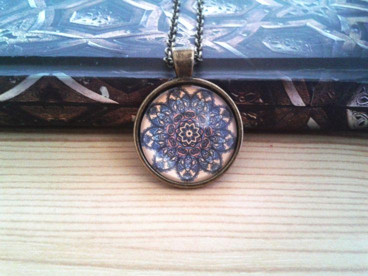 Mandala a barna árnyalataiban (mandala, jewerly, vintage, fashion, DIY)