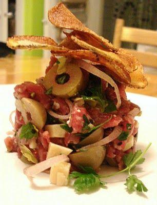 Presque végé: Billet carnivore: le tartare de boeuf du Garde-Manger