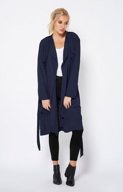 Ink Aja Trench Coat by FATE