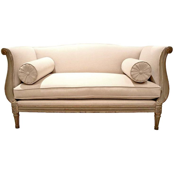 An 18th c. French Rococo-Neoclassical Transitional Settee Sofa
