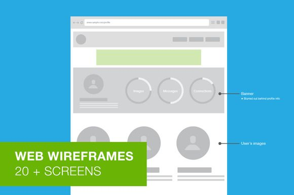Web Wireframes - User Flow - Templates - 1