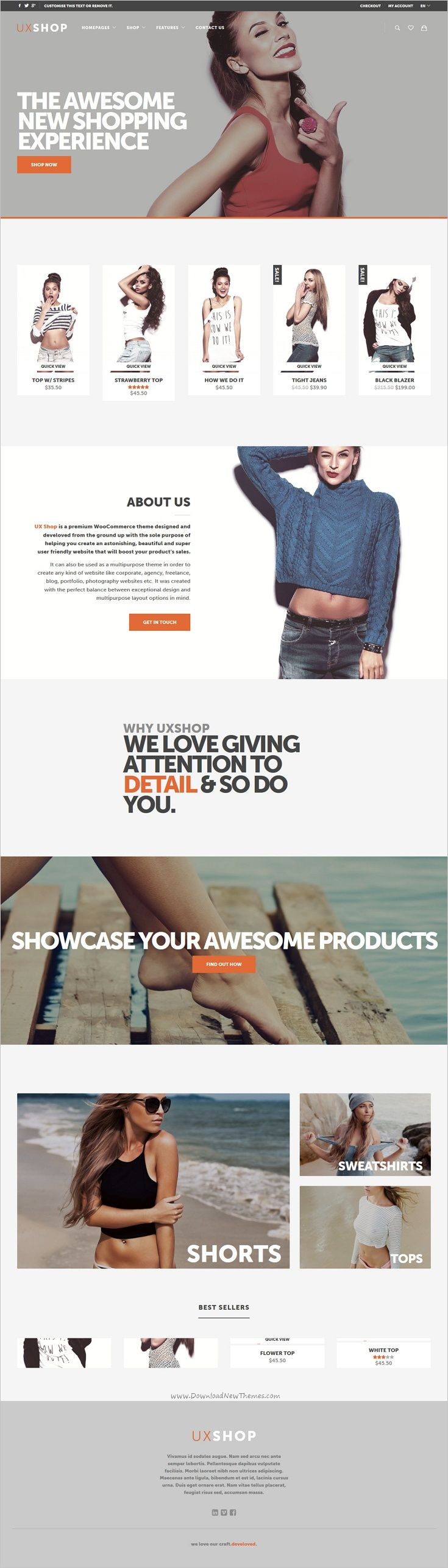 UX shop is a wonderful responsive #WooCommerce #WordPress theme for stunning #fashion store #eCommerce website download now➩ https://themeforest.net/item/ux-shop-responsive-woocommerce-theme/17392088?ref=Datasata