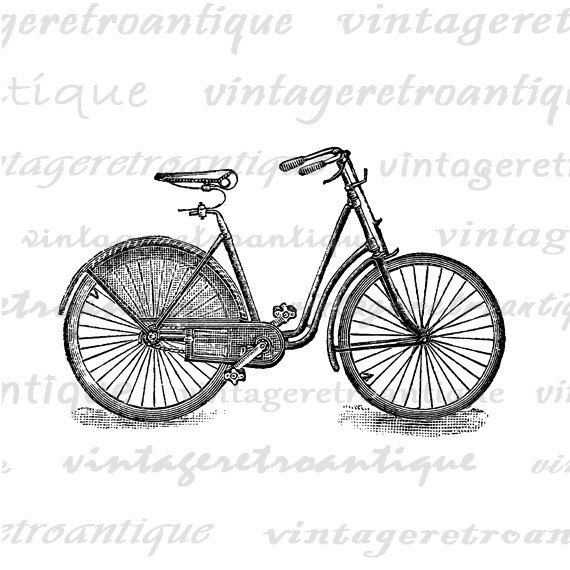 Antique Bicycle Graphic Printable Download by VintageRetroAntique