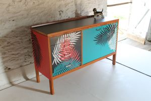 palmleaf sideboard retro lucy turner formica