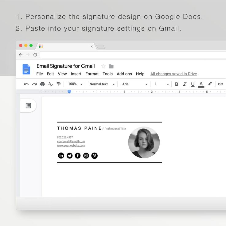 Gmail Email Signature Template A Modern Email Signature Clickable Template For Gmail In 2021 Email Signatures Email Signature Templates Best Email Signatures