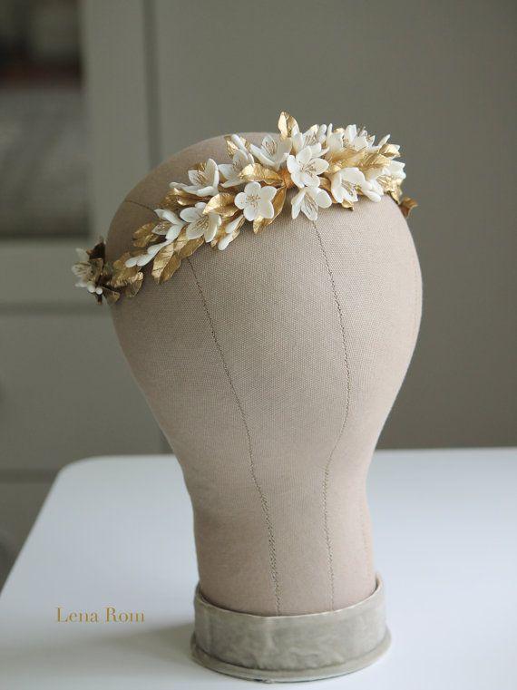 Bridal headpiece / Bridal wreath / Boho by LenaRomHeadpieces