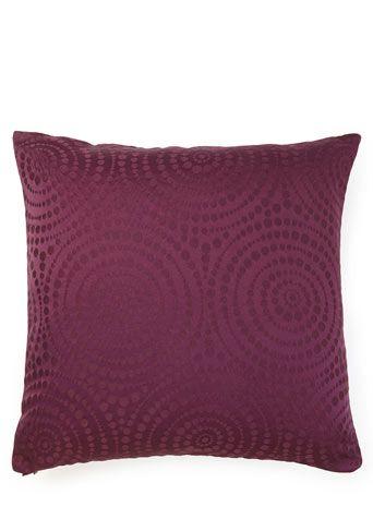 Circle Jacquard cushion - Purple #BHSLightupyourlife