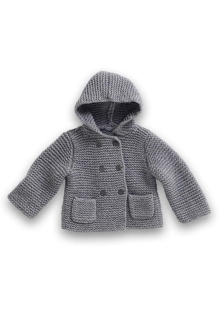 Kids stuff  Un petit gilet en tricot pour bébé > la couleur est superbe. Je veux le même !