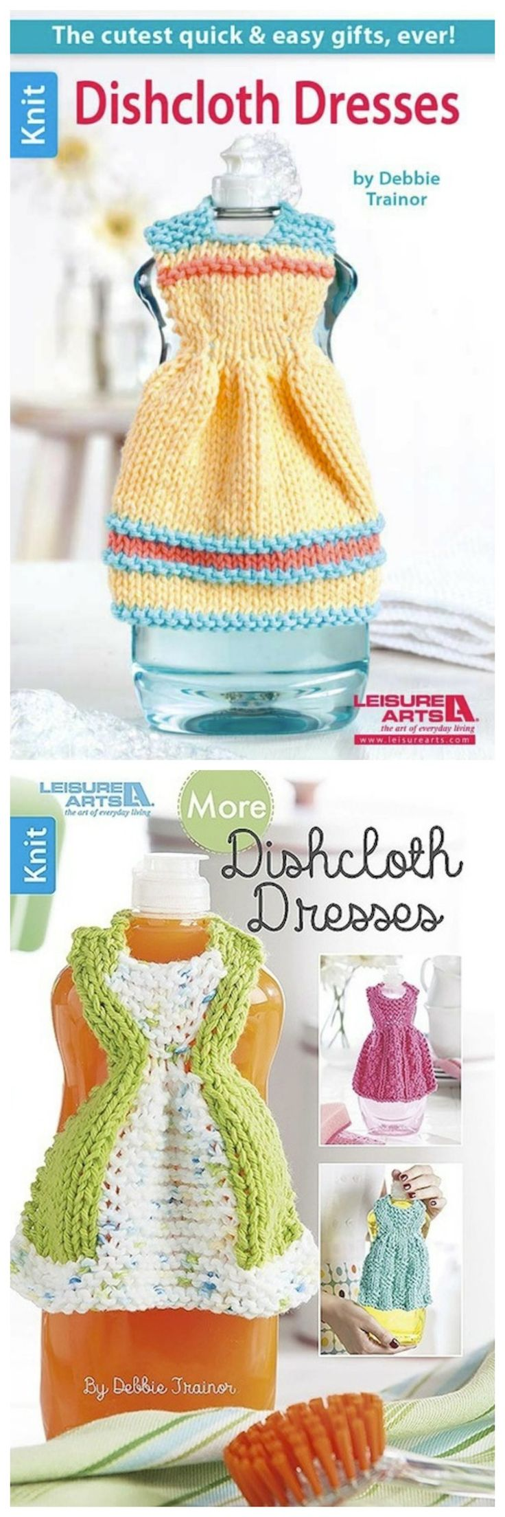 Knitting Book Reviews: Dishcloth Dresses and More Dishcloth Dresses by Debbie Trainor on Underground Crafter