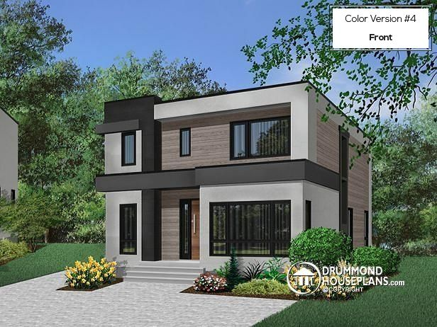 162 best modern house plans contemporary home designs for Modern green home plans