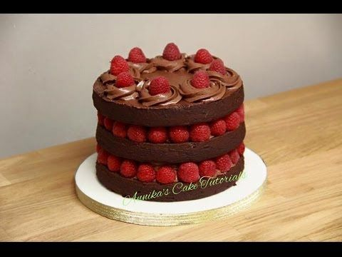 Raspberry naked cake video tutorial on youtube