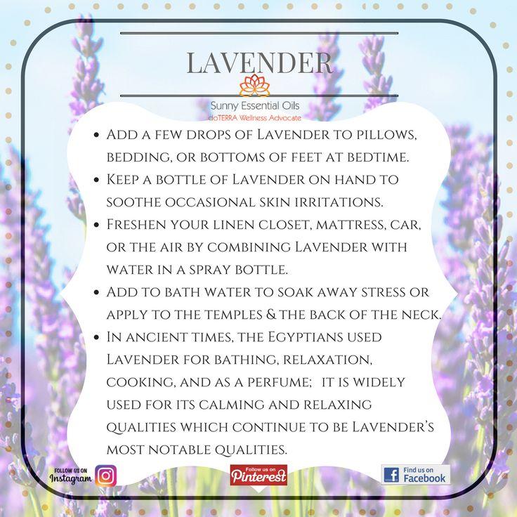 Lavender Essential Oil info  Facebook: https://www.facebook.com/sunnyessentialoils/  Instagram: @sunnyessentialoils