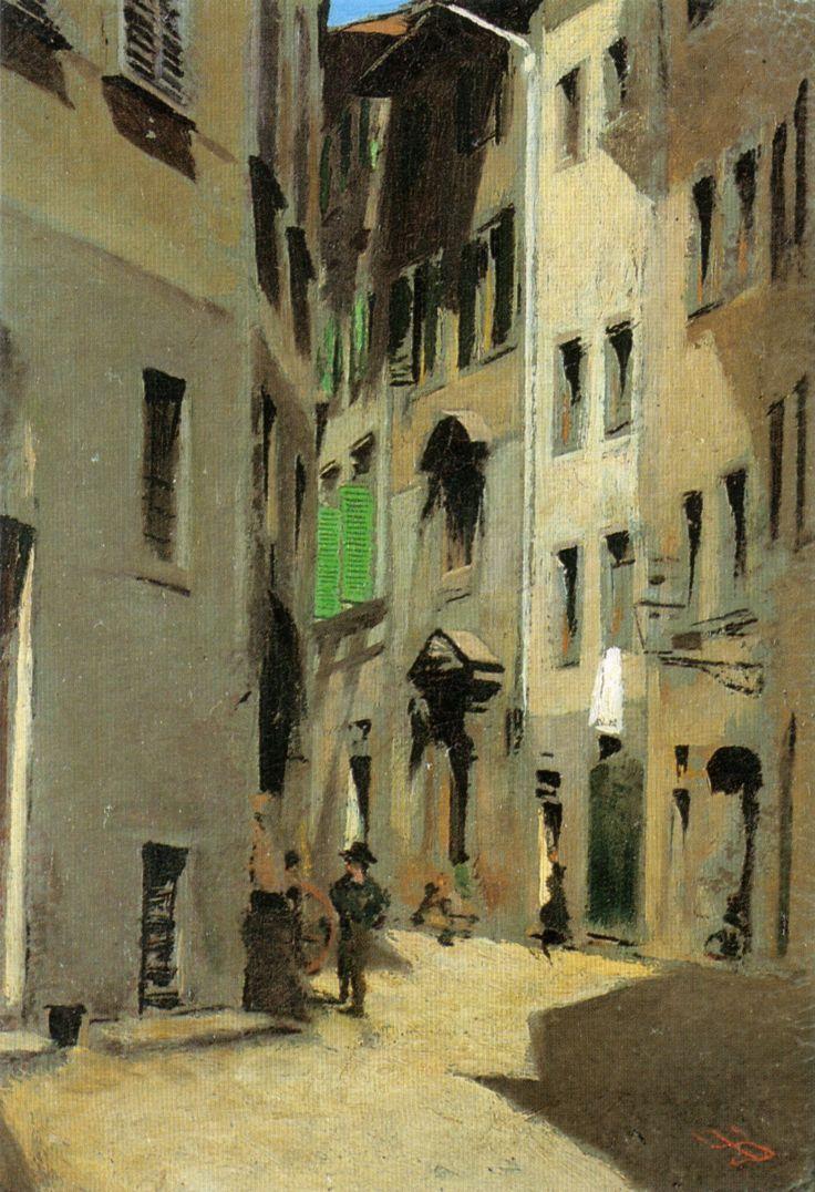 Via Torta, Firenze, 1870 circa – Telemaco Signorini