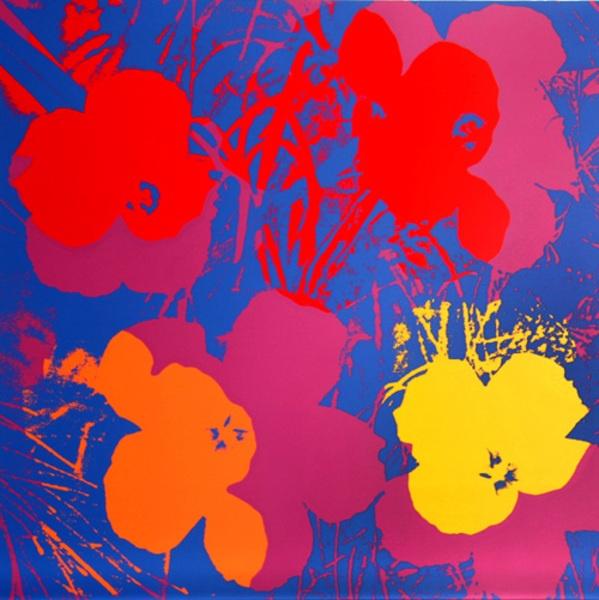 les 7 meilleures images du tableau andy warhol sur pinterest pop art andy warhol fleurs andy. Black Bedroom Furniture Sets. Home Design Ideas