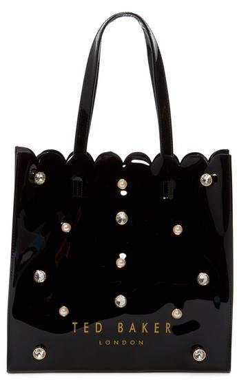 Ted Baker London Jesicon Crystal and Pearl Large Icon Tote Bag SALE $59.97