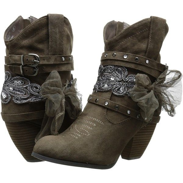 Not Rated Stash Women's Pull-on Boots, Taupe ($48) ❤ liked on Polyvore featuring shoes, boots, ankle booties, ankle boots, taupe, buckle booties, short boots, high heel ankle boots, not rated boots and taupe bootie
