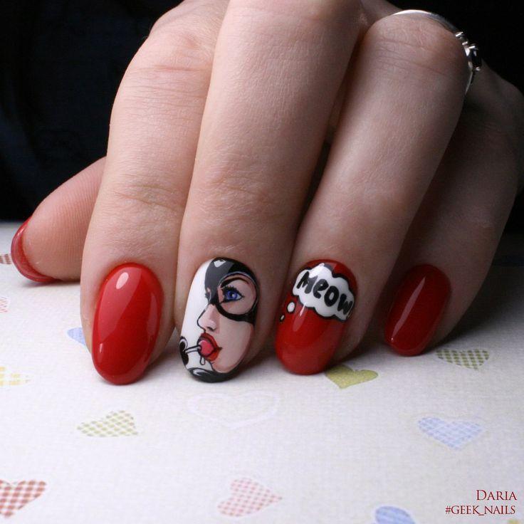 #geeknails  #шеллак #гельлак #нейларт #ногти #маникюр #дизайнногтей #nailart #naildesign #catwoman