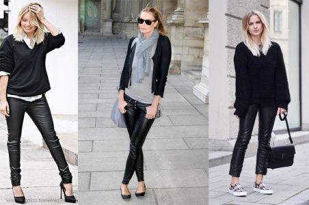 1000+ images about pantalon cuero on Pinterest