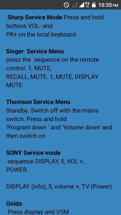 Pin by ccmb cavin on service menu in 2019 | Sony led, Sony