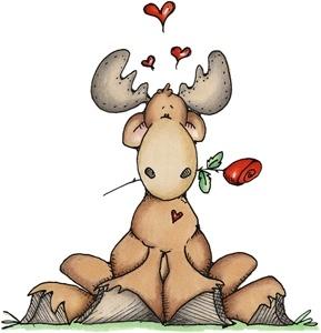Cute moose, yes he is a cutie