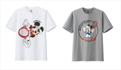 ユニクロ、ミッキーが錦織圭選手や国枝慎吾選手ポーズ! 新Tシャツ発売 | マイナビニュース
