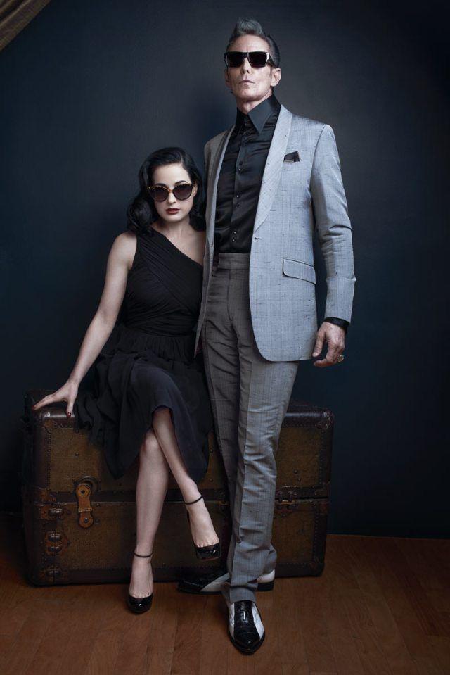 Dita Von Teese and Mark Mahoney for DITA Eyewear. Fall 2013.