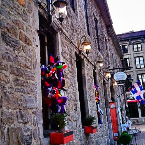 Shops in Old Montreal