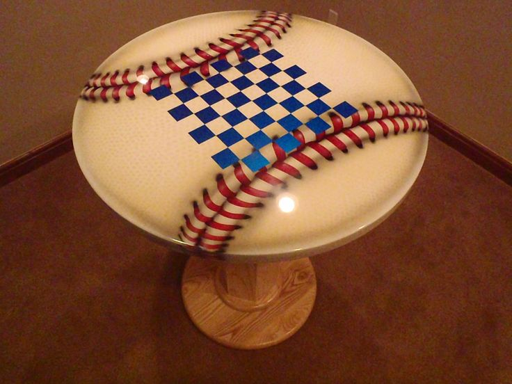 Custom Ultimate Baseball Man Cave Table by Fedeczko Furniture | CustomMade.com