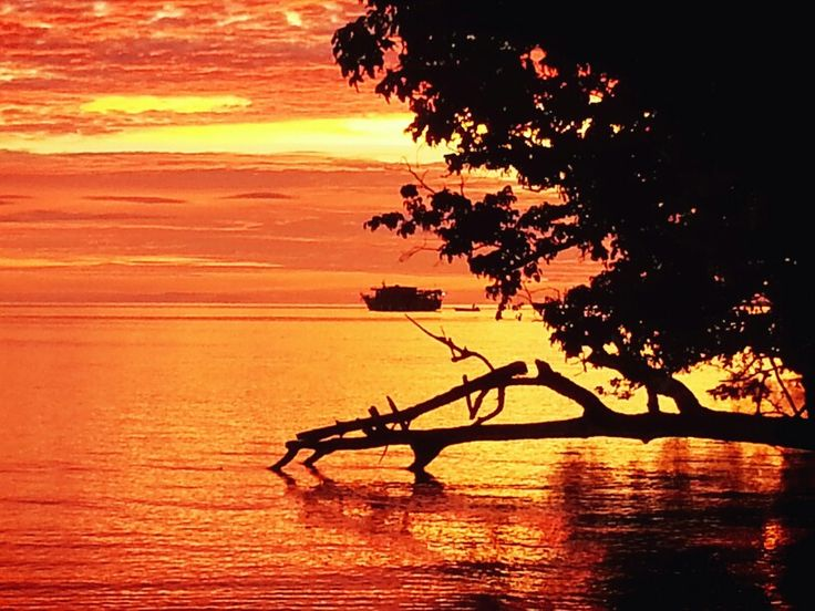 Sunset in Kwatisore, Papua