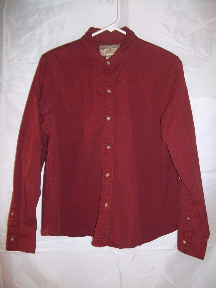 Bit & Bridle Western Rodeo Shirt Top Button Down Women's Red Burgundy Size Large  #bitbridle #western #womens #top #shirt #buttondown #clothing #clothes #apparel #fashion #womenswear #womensfashion #rodeo #cowgirl #onlinestore #onlineshopping #ebay #ebaystore