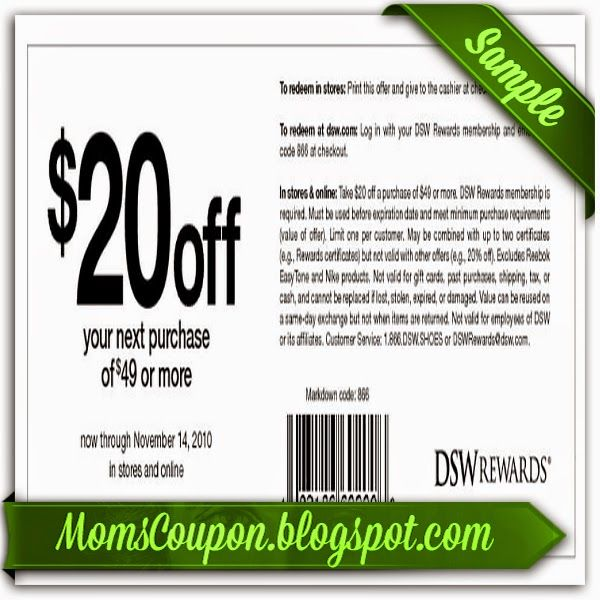 DSW coupons 10 off 50 purchase February