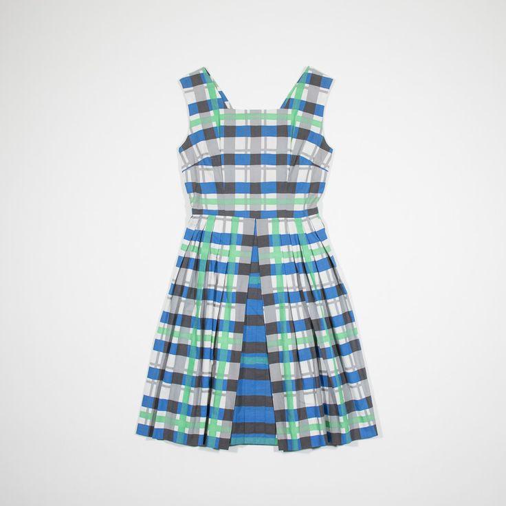 ✦ CLICK TO BUY ✦ 50s tartan cotton dress - Vestito anni '50 - Millesimè Vintage clothing & accessories