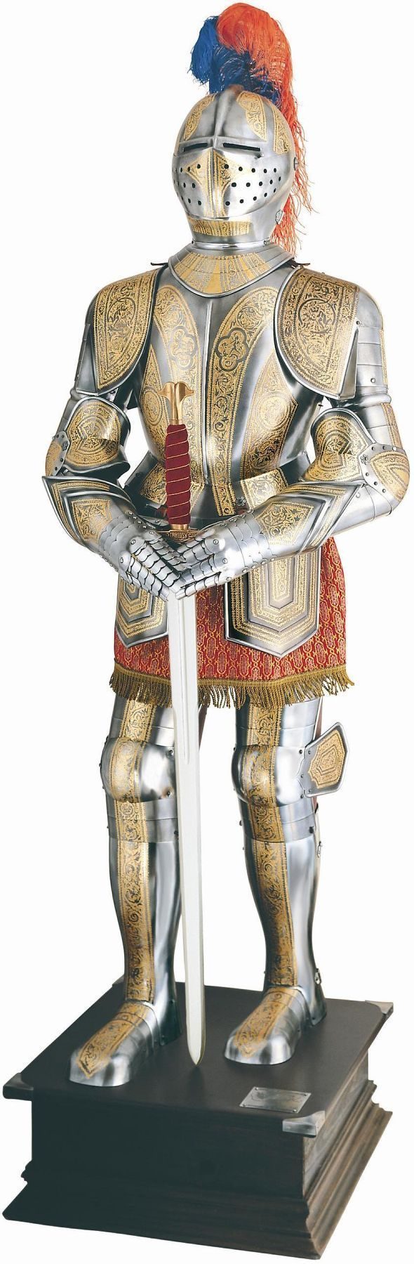 Deluxe Gold Etched Medieval Knight Suit of Armor   by Marto of Toledo Spain
