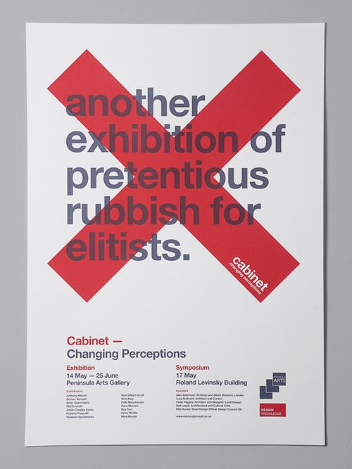 Cabinet - Changing Perceptions poster.: Design Inspiration, Cabinets Exhibitions, Poster Design, Exhibitions Poster, Poster Frame-Black, Cabinets Campaigns, Buddies Creative, Graphics Design Poster, Cabinets Poster