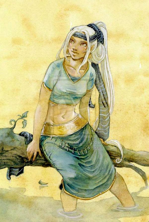 Weena- blue and yellow by Bobbaji.