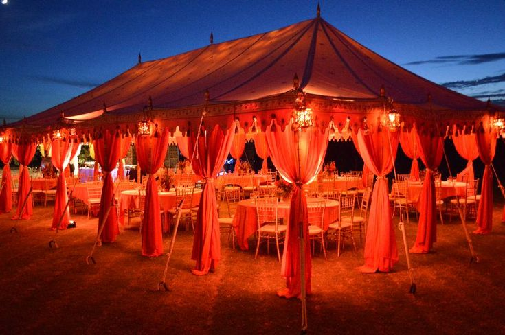 UpLighting a tent