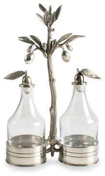 Olive Oil and Vinegar Server transitional-serveware