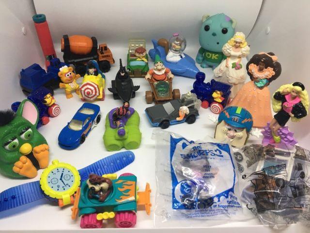 Vtg Lot McDONALDS HAPPY MEAL TOYS Barbie Disney Batman Joker Sandy Funko Pop Car | eBay