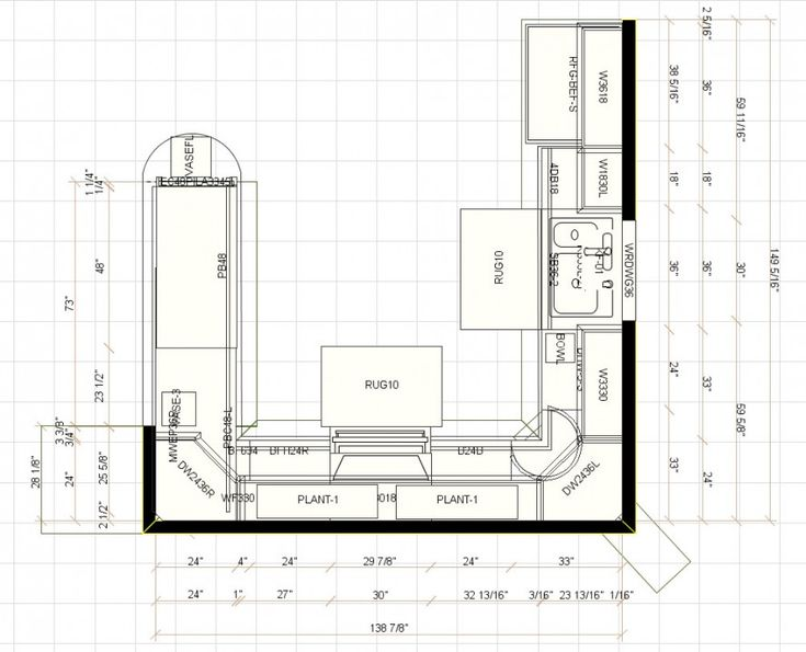Kitchen Cabinet Layouts For Blueprints