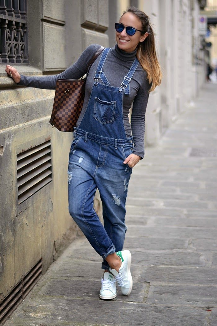 Look Con Salopette E Stan Smith Ootd Outfit Adidas Originals Dungaree Sneakers Pinterest