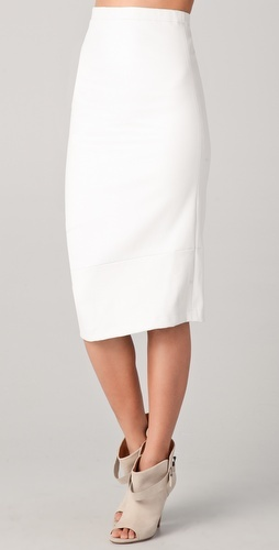 (style I aspire to :) )   so chic... and yet casual...   Zero + Maria Cornejo Isis Leather Skirt