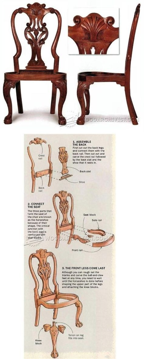 Queen Anne Side Chair Plans - Furniture Plans and Projects | http://WoodArchivist.com