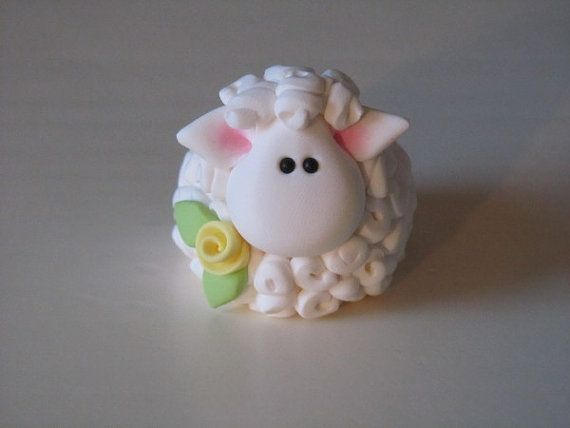 *POLYMER CLAY ~ Easter Lamb Figurine