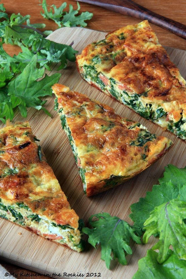 Kale Frittata - A Healthy Breakfast Casserole...could also add sundried tomatoes, ham, cooked turkey sausage, feta or goat cheese